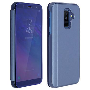 Avizar Etui folio Bleu pour Samsung Galaxy A6 Plus Etui folio Bleu Samsung Galaxy A6 Plus