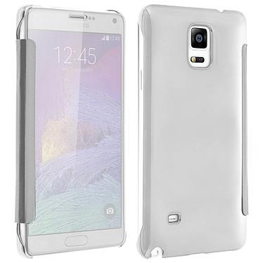 Avizar Etui folio Argent pour Samsung Galaxy Note 4 Etui folio Argent Samsung Galaxy Note 4