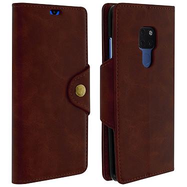 Avizar Etui folio Marron Éco-cuir pour Huawei Mate 20 Etui folio Marron éco-cuir Huawei Mate 20