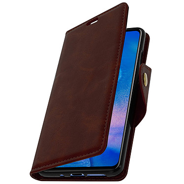 Avizar Etui folio Marron Éco-cuir pour Huawei Mate 20 pas cher