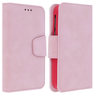 Avizar Etui folio Rose pour Tous les smartphones jusqu'à 5,5 pouces Etui folio Rose Tous les smartphones jusqu'à 5,5 pouces