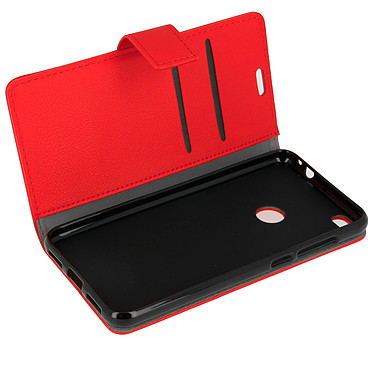 Avizar Etui folio Rouge pour Huawei P8 Lite (2017) , Honor 8 Lite Etui folio Rouge Huawei P8 Lite (2017) , Honor 8 Lite
