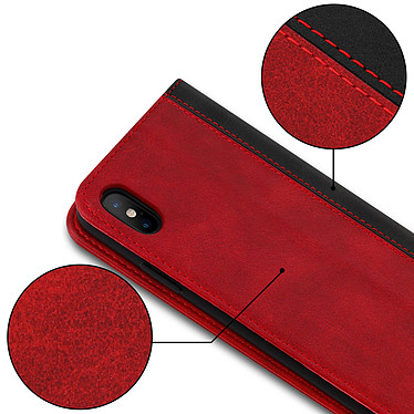 Acheter Avizar Etui folio Rouge Éco-cuir pour Apple iPhone XS Max