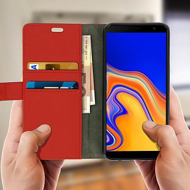 Acheter Avizar Etui folio Rouge Portefeuille pour Samsung Galaxy J6 Plus