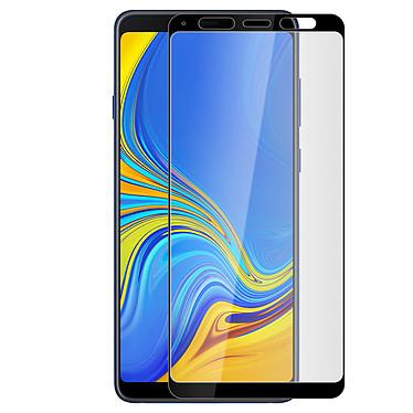 Avizar Film verre trempé Noir pour Samsung Galaxy A9 2018 pas cher
