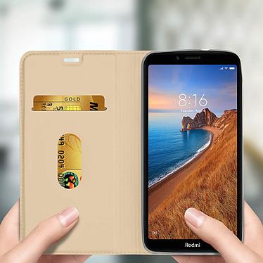 Avis Avizar Etui folio Dorée Éco-cuir pour Xiaomi Redmi 7A