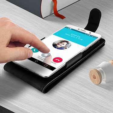 Acheter Avizar Etui à clapet Noir pour Compatibles avec Smartphones de 4,7 à 5,0 pouces