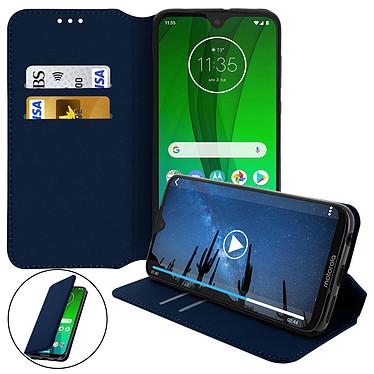 Avizar Etui folio Bleu Nuit pour Motorola Moto G7 Power pas cher