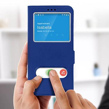Acheter Avizar Etui folio Bleu à fenêtre pour Samsung Galaxy A7 2018