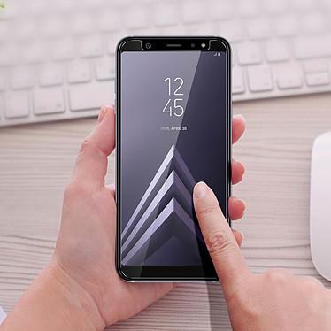Avizar Film verre trempé Transparent pour Samsung Galaxy A6 Plus pas cher