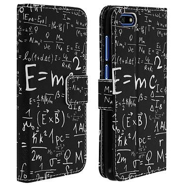 Avizar Etui folio Noir Formules Mathématiques pour Huawei Y5 2018 , Honor 7S pas cher