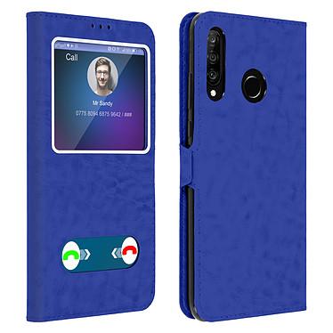 Avizar Etui folio Bleu pour Huawei P30 Lite , Honor 20S , Huawei P30 Lite XL Etui folio Bleu Huawei P30 Lite , Honor 20S , Huawei P30 Lite XL
