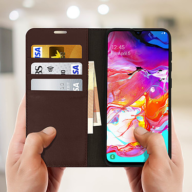 Acheter Avizar Etui folio Marron pour Samsung Galaxy A70