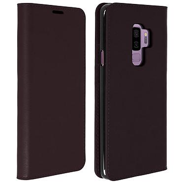 Avizar Etui folio Marron pour Samsung Galaxy S9 Plus pas cher