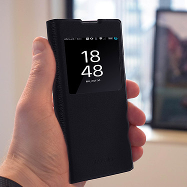 Avis Avizar Etui folio Noir pour Sony Xperia XA2 Ultra