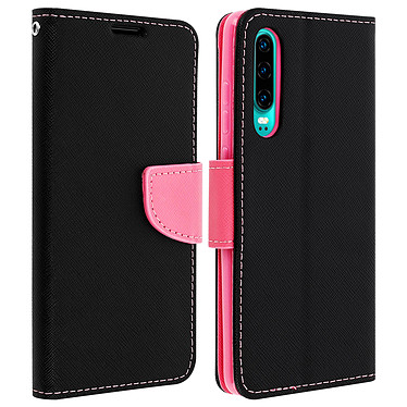 Avizar Etui folio Rose Fancy Style pour Huawei P30 Etui folio Rose Fancy Style Huawei P30