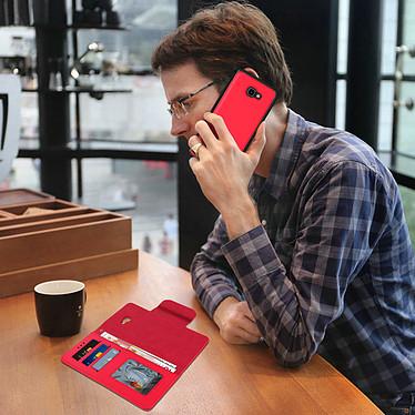 Avis Avizar Etui folio Rouge Porte-Carte pour Samsung Galaxy J4 Plus