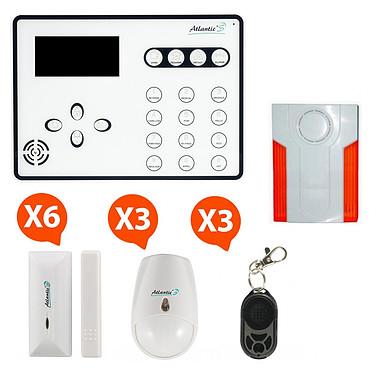 Atlantic'S ATEOS - Alarme de maison sans fil GSM Kit 5 (MD-334R) ATEOS - Alarme de maison sans fil GSM Kit 5 (MD-334R)