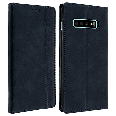 Avizar Etui folio Bleu Nuit Porte-Carte pour Samsung Galaxy S10 Plus Etui folio Bleu Nuit avec porte-carte Samsung Galaxy S10 Plus