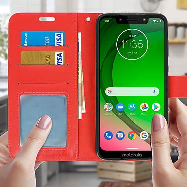 Acheter Avizar Etui folio Rouge pour Motorola Moto G7 , Motorola Moto G7 Plus
