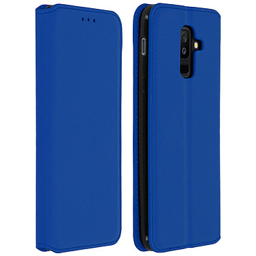 Avizar Etui folio Bleu Nuit pour Samsung Galaxy A6 Plus pas cher