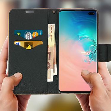 Acheter Avizar Etui folio Dorée Fancy Style pour Samsung Galaxy S10 Plus