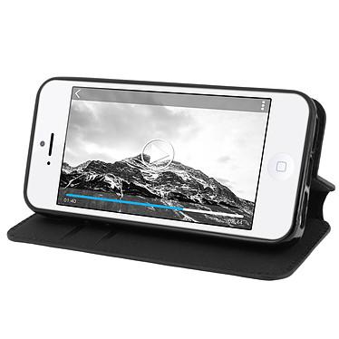 Avis Avizar Etui folio Noir pour Apple iPhone 5 , Apple iPhone 5S , Apple iPhone SE
