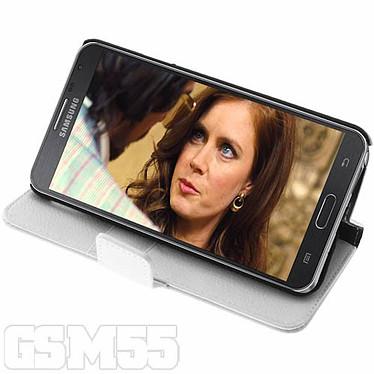 Avizar Etui folio Blanc pour Samsung Galaxy Note 3 Lite pas cher