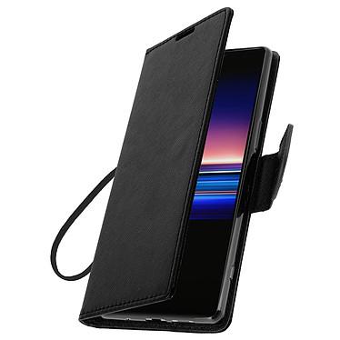 Avizar Etui folio Noir Fancy Style pour Sony Xperia 1 pas cher