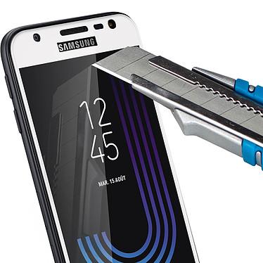 Avizar Film verre trempé Blanc pour Samsung Galaxy J3 2017 pas cher