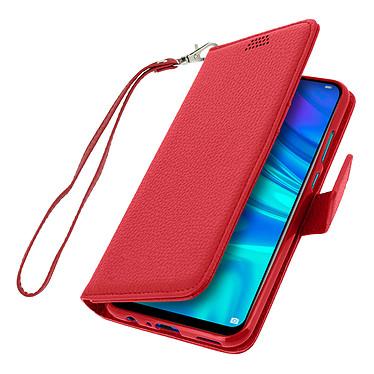 Avizar Etui folio Rouge Porte-Carte pour Huawei P Smart 2019 , Honor 10 Lite pas cher