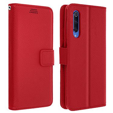 Avizar Etui folio Rouge Éco-cuir pour Xiaomi Mi 9 Etui folio Rouge éco-cuir Xiaomi Mi 9