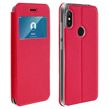 Avizar Etui folio Rouge Éco-cuir pour Xiaomi Redmi Note 6 Pro Etui folio Rouge éco-cuir Xiaomi Redmi Note 6 Pro