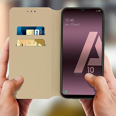Acheter Avizar Etui folio Dorée pour Samsung Galaxy A10