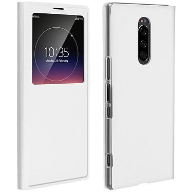 Avizar Etui folio Blanc pour Sony Xperia 1 Etui folio Blanc Sony Xperia 1
