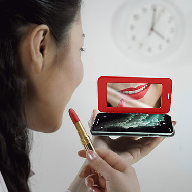 Acheter Avizar Etui folio Rouge Miroir pour Apple iPhone 11 Pro