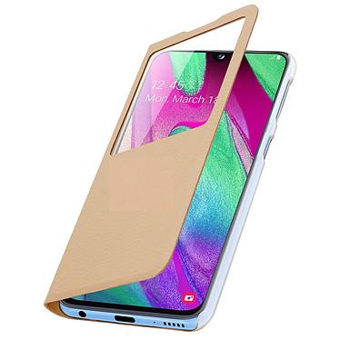 Avizar Etui folio Dorée pour Samsung Galaxy A40 pas cher