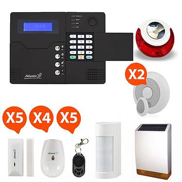 Atlantic'S ST-V - Alarme maison sans fil GSM application smartphone Kit 12 pas cher