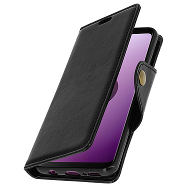 Avizar Etui folio Noir Éco-cuir pour Samsung Galaxy S9 Etui folio Noir éco-cuir Samsung Galaxy S9