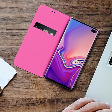 Acheter Avizar Etui folio Rose Portefeuille pour Samsung Galaxy S10 Plus