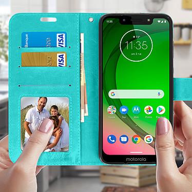 Acheter Avizar Etui folio Turquoise pour Motorola Moto G7 , Motorola Moto G7 Plus