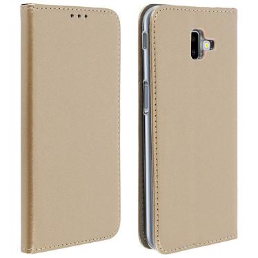 Avizar Etui folio Dorée pour Samsung Galaxy J6 Plus Etui folio Dorée Samsung Galaxy J6 Plus
