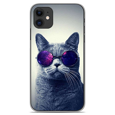 1001 Coques Coque silicone gel Apple iPhone 11 motif Chat à lunette Coque silicone gel Apple iPhone 11 motif Chat à lunette
