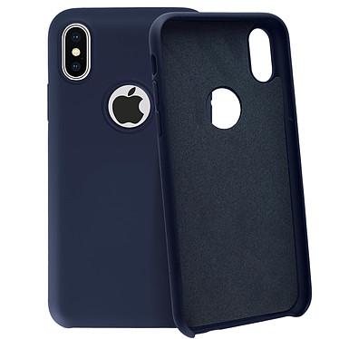 Avizar Coque Bleu Nuit Semi-Rigide pour Apple iPhone X , Apple iPhone XS pas cher