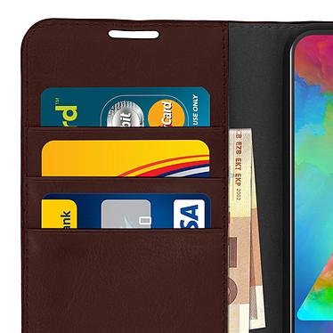 Avis Avizar Etui folio Marron pour Samsung Galaxy M20
