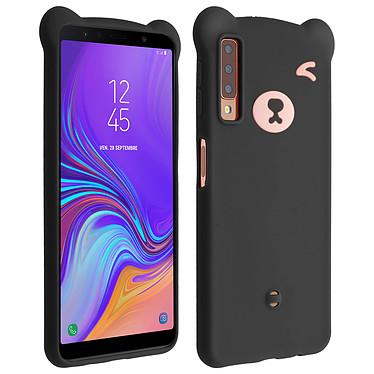 Avizar Coque Noir Design Nounours pour Samsung Galaxy A7 2018 pas cher