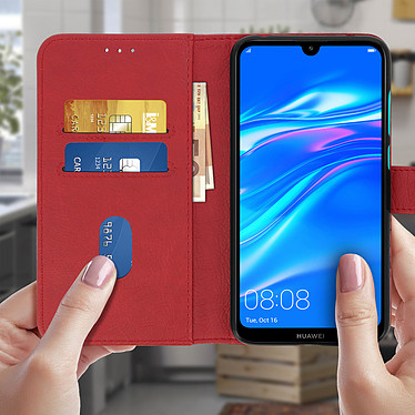 Acheter Avizar Etui folio Rouge pour Huawei Y7 2019