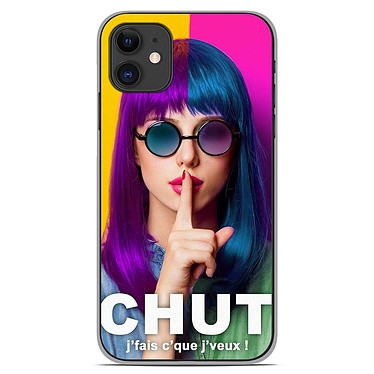 1001 Coques Coque silicone gel Apple iPhone 11 motif Chut Coque silicone gel Apple iPhone 11 motif Chut