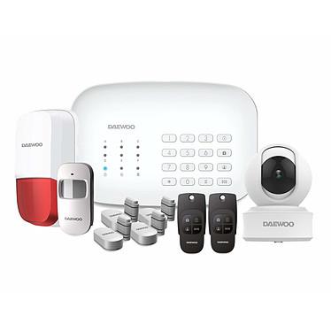 DAEWOO Vision+ Pack alarme Wifi/GSM avec 10 accessoires et 1 caméra de surveillance