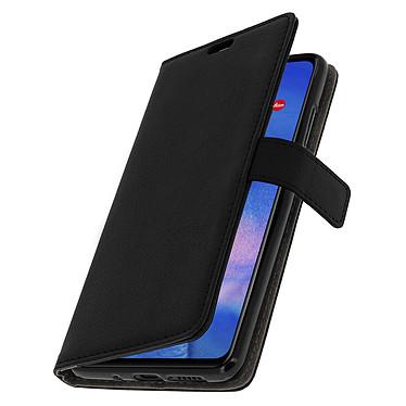 Avizar Etui folio Noir Rangement Carte pour Huawei Mate 20 pas cher